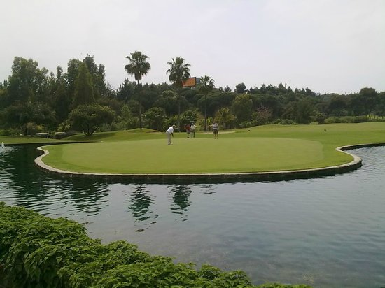 Golf Club Santa Clara Marbella : 18th green, Santa Clara
