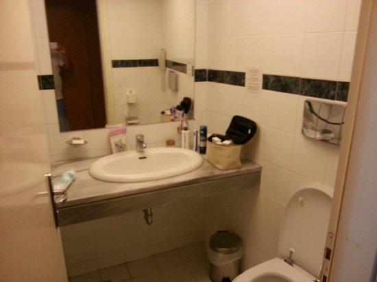 Ibiscus Hotel: Lille badeværelse med fugt