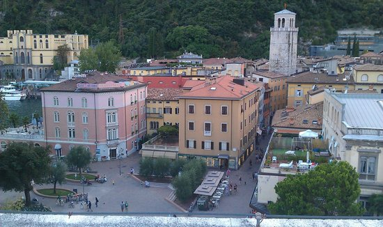MAG Museo Alto Garda: Part of the view from the roof of the museum. On the right Torro Apponale.