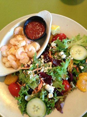 Southport, NC - Fishy Fishy Cafe - Mandarin Beet Salad with Shrimp