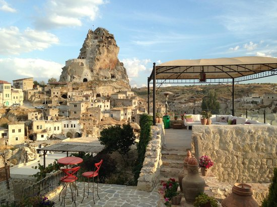 Hezen Cave Hotel: view from the many terraces