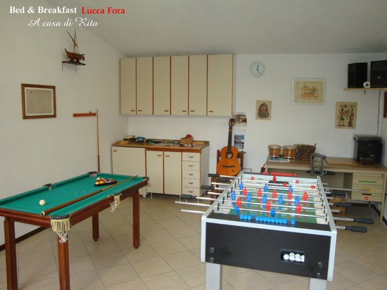 Bed & Breakfast Lucca Fora : Sala giochi