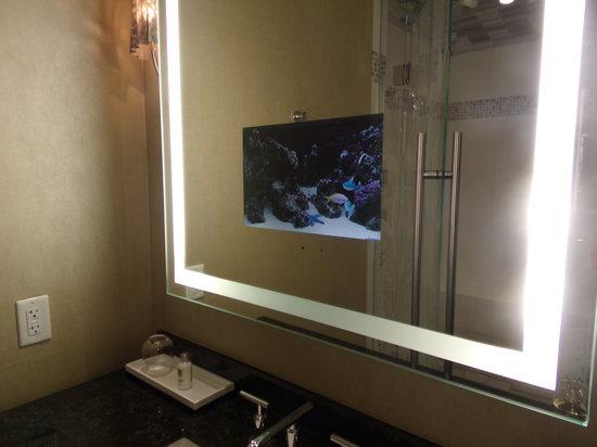 Hotel32 at Monte Carlo: tv in mirror