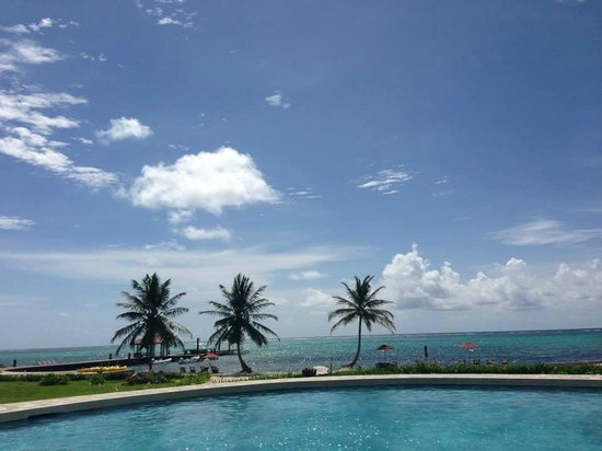 Grand Caribe Belize Resort and Condominiums: View of pool and beach