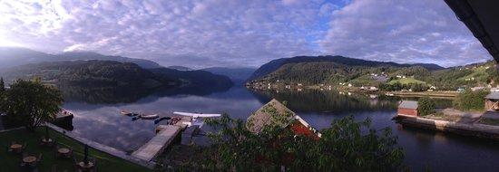 View from Brakanes Hotel overlooking Hardangerfjord