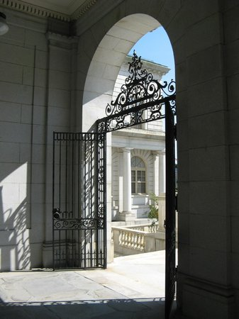 The Scenic Route Maine Tours: Entry gate to Portland City Hall