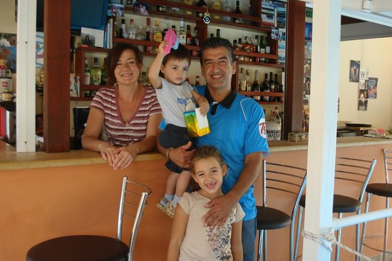 Stella Apartments: Stella, Savas and their little family, Katerina & Antony