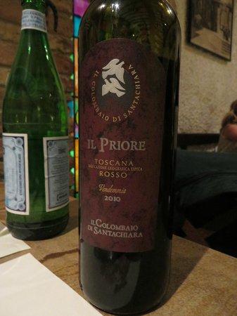 La Mangiatoia: Il Priore rosso vino