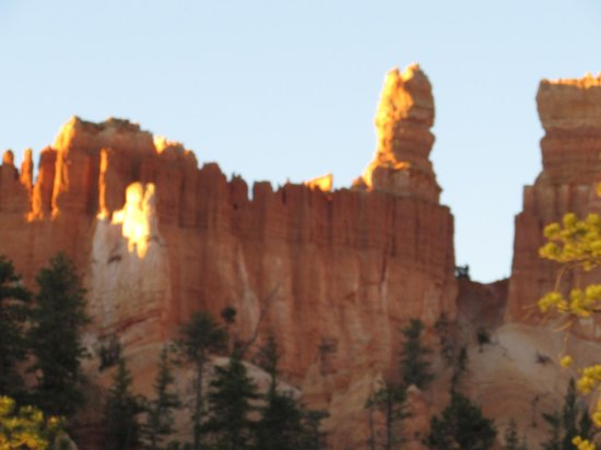 Navajo Trail: View of hoodoos in early morning light
