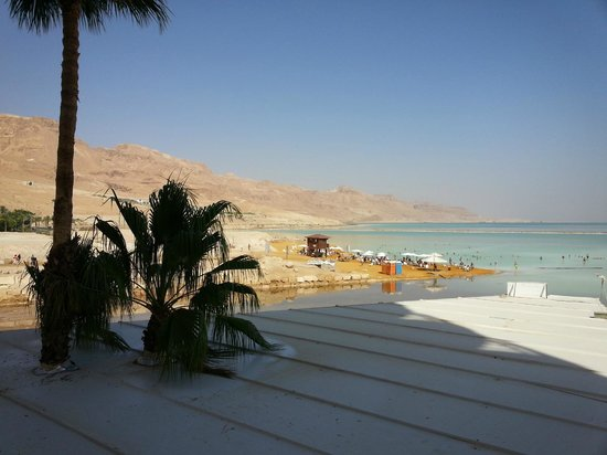 Hod Hamidbar Resort and Spa Hotel: Image from our hotel room of mountains and Dead Sea