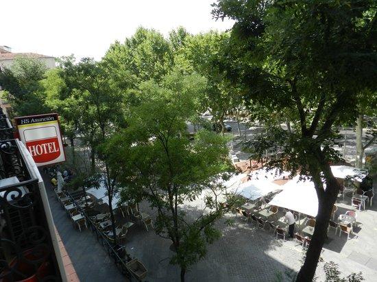Hostal Asuncion: Vista balcone