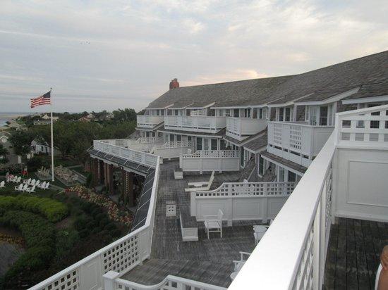 Chatham Bars Inn Resort and Spa: TERRASSE DES CHAMBRES VUE MER