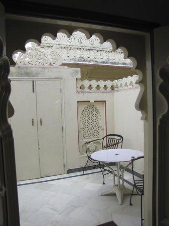 Shiv Niwas Palace: la verandina anticamera