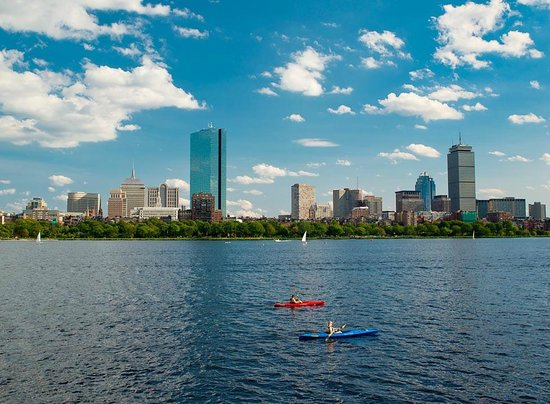 Charles River Canoe & Kayak: One-Way Renters See the Hancock and Prudential Buildings