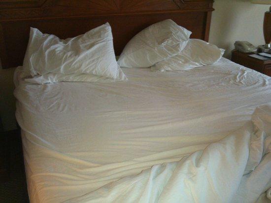 Hilton Garden Inn Ontario / Rancho Cucamonga : Horrible bed