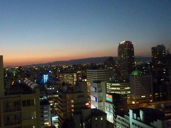 Hotel Nikko Osaka: 19階からの夜景 西側