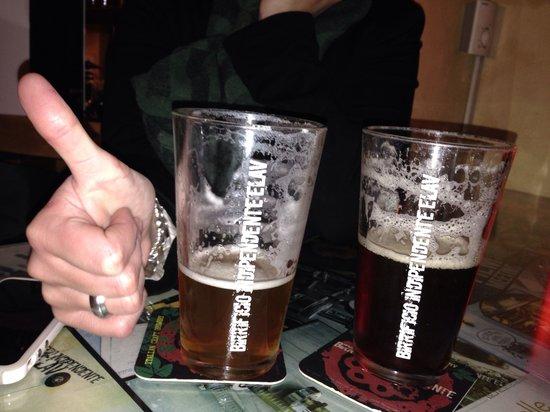 Osteria della Birra : Punk's bitter and Uppercut... Very good artigianal beer!!!
