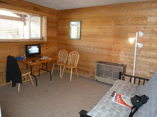 Three Rivers Resort: Cabin 30 - Living Room with futon