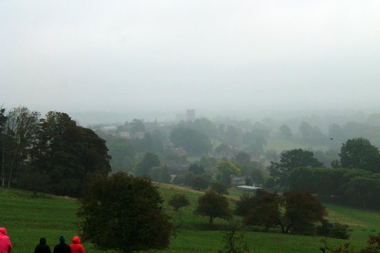Natural Retreats Yorkshire Dales: Misty view overlooking Richmond