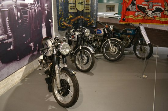 Coventry, UK: A few Triumph bikes
