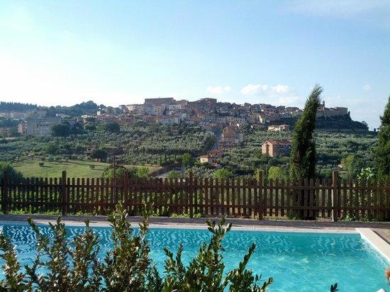 Agriturismo La Pietriccia : paesaggio piscina
