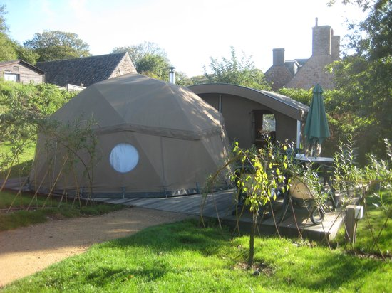 Durrell Wildlife Camp: Your camp site.. with the pod at the front