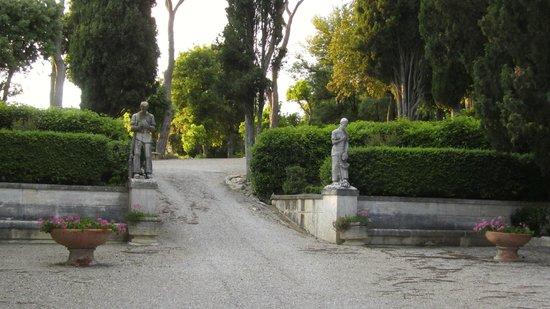 Villa Poggiano: walking up toward pool area