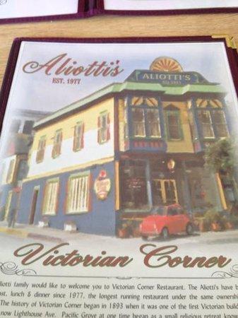 Victorian Corner: Aliotti's