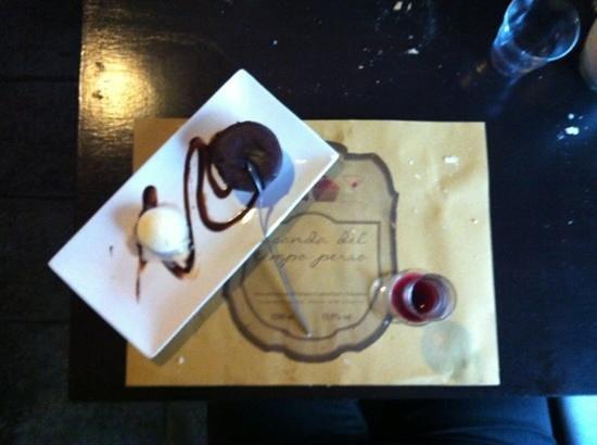 Locanda del tempo perso : dessert au chocolat