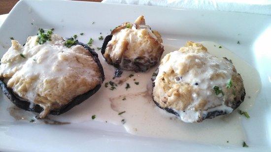 Schaefer's Canal House: Stuffed Portobello Mushroom Appetizer $10