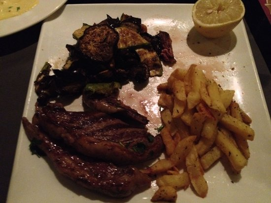 Agora Select Restaurant Bar: Rump steak and French fries...