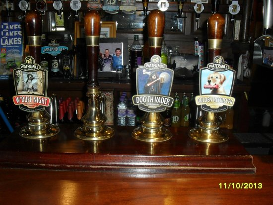 Watermill Inn & Brewing Co: Just some of the Real Ales available