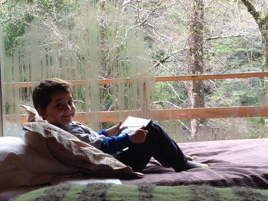 Peumayen Lodge & Termas: In the cabin. Total relax!
