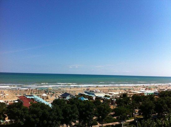 Atlantic Hotel Riccione: La splendida vista mare dalla mia camera...che spettacolo!!!