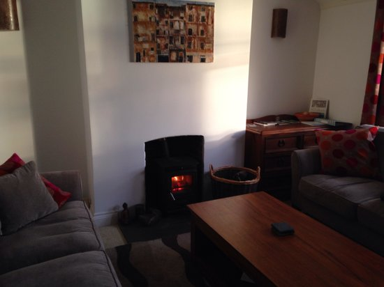 Sixteen Falmouth: Lounge with lovely log burner