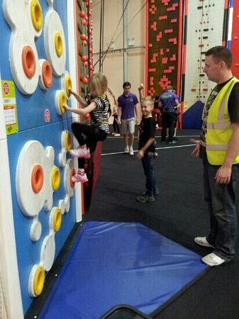 Clip 'n Climb Maryport: Lucy Leigh giving her all