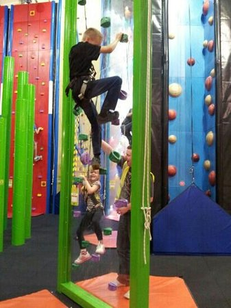 Clip 'n Climb Maryport: A race between brother and sister