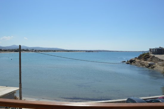 Nissaki Beach Hotel Naxos: Bay view from porch