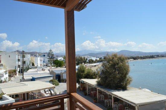 Nissaki Beach Hotel Naxos: View of beach from porch