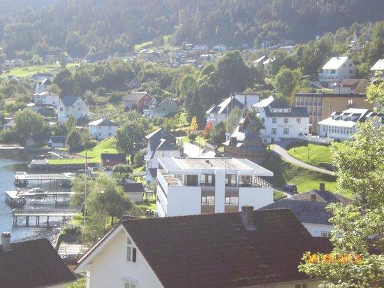 Kviknes Hotel: vista desde el cuarto