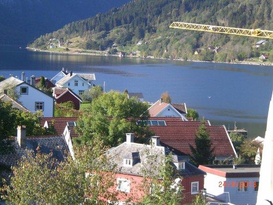 Kviknes Hotel: otra vista desde el cuarto