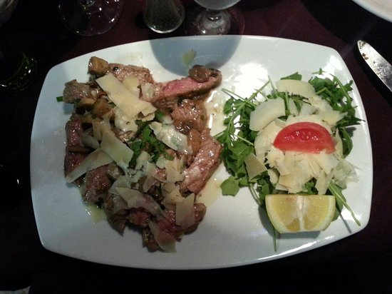Dolce Italia : I had the Tagliata Porcini with shaved parmesan. The steak was absolutely INCREDIBLE and the por