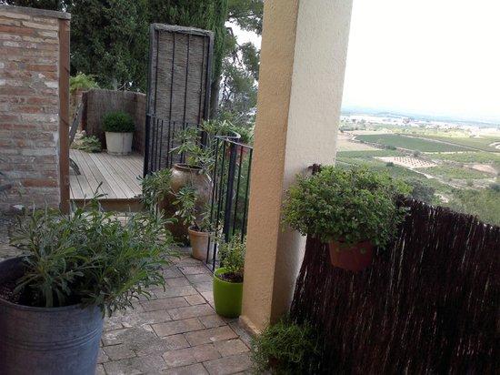 Cal Mestre: terraza