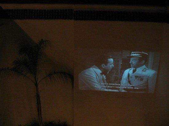Riad l'Orangeraie: La projection du film