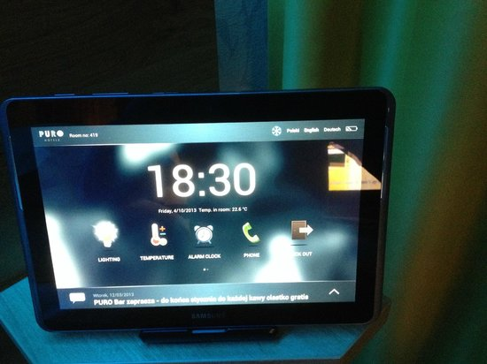 Puro Hotel Krakow: Tablet