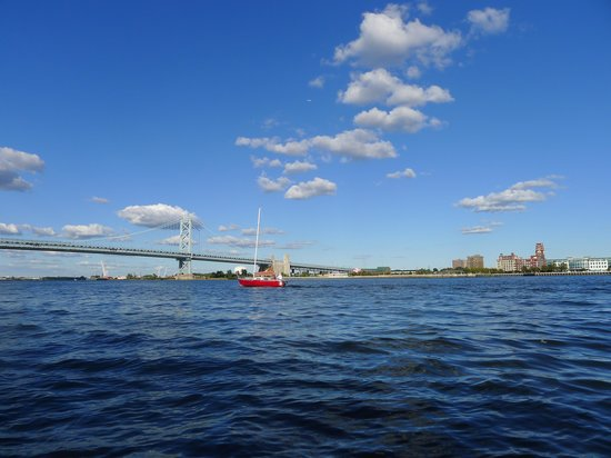 Ride The Ducks of Philadelphia : View to Benjamin Franklin bridge