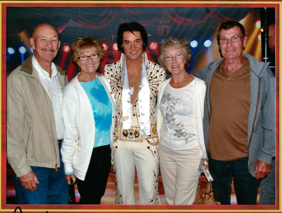 Legends In Concert : Elvis helps us celebrate my Sis' & Brother-in-law's 50th Wedding Anniversary