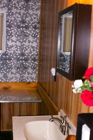 Gateway Inn & Cabins: mix & match in bathroom