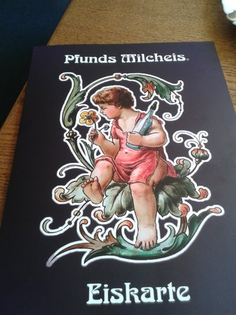 Pfunds Cafe Restaurant: menu