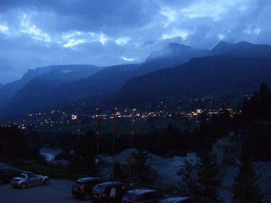 Gletscherschlucht: View of Grindelwald from the Hotel